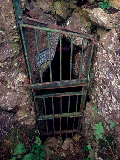 Fox Hole Cave, securely locked entrance